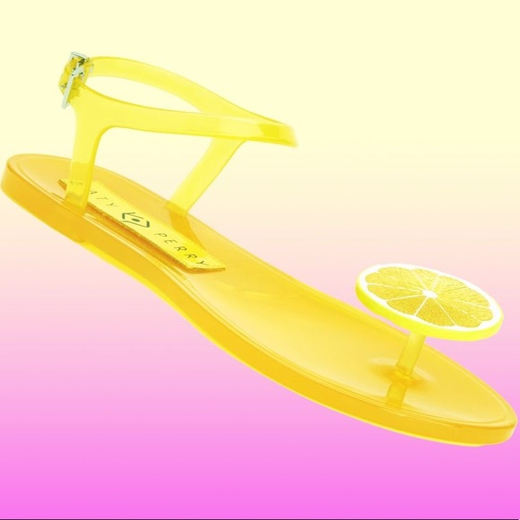 7de957a38d8 Katy Perry Collections Shoes - NEW Katy Perry Lemon Geli Sandals Scented  Jelly